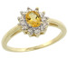 Natural 0.67 ctw Citrine & Diamond Engagement Ring 14K Yellow Gold