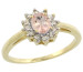 Natural 0.64 ctw Morganite & Diamond Engagement Ring 14K Yellow Gold