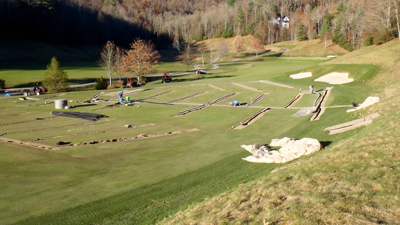 Drainage Project Helps A Golf Course Play Firm And Fast