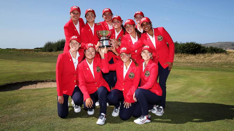 The victorious US Curtis Cup team