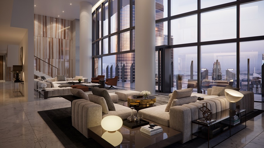 Penthouse Level Full Burj and Fountain View
