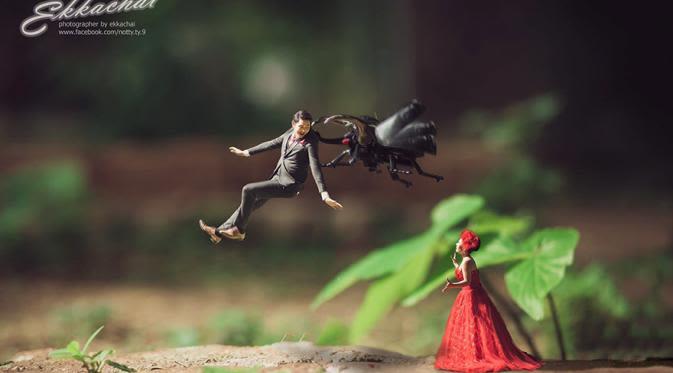 10 Foto Pre Wedding Kurcaci yang Unik dan Lucu 1