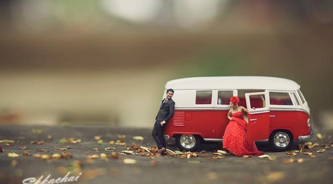 10 Foto Pre Wedding Kurcaci yang Unik dan Lucu