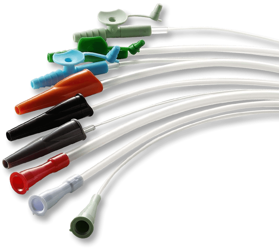 Plastic Catheters Straight Tip