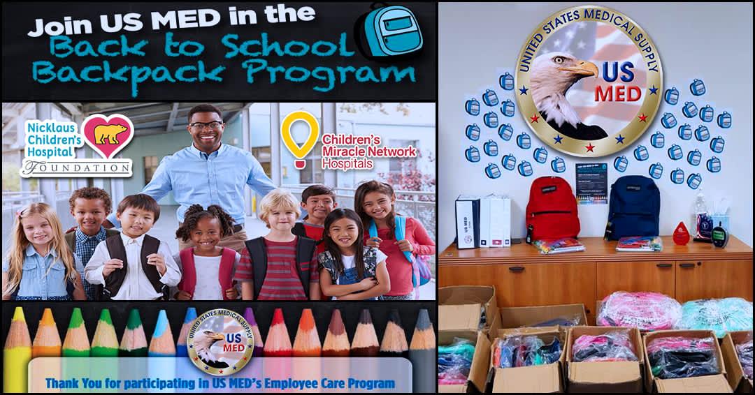 US Med Employee Care Program Backpack Program