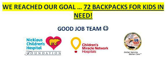 Backpack Program Goal Reached