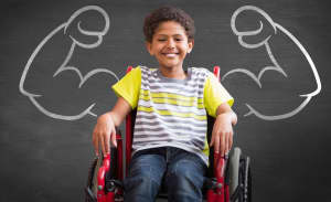 Strong Child in Wheelchair