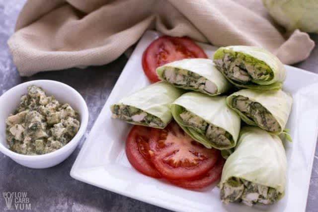 Pesto-Chicken-Salad-Wrap