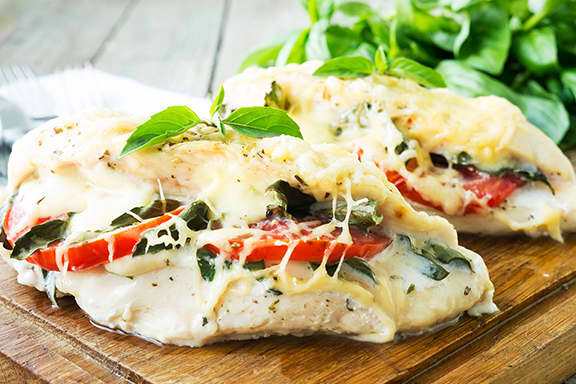 Sauted-Chicken-Topped-with-tomatoes-basil-parmesan