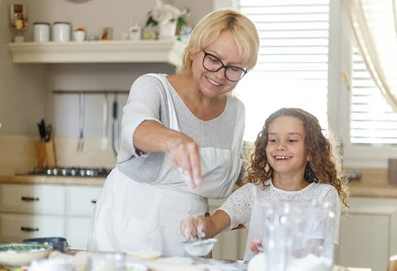 Happy Family Baking with Sugar Substitutes
