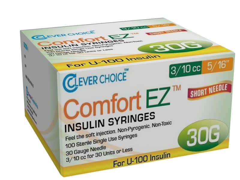 8mm Insulin Syringes - 30G .3cc