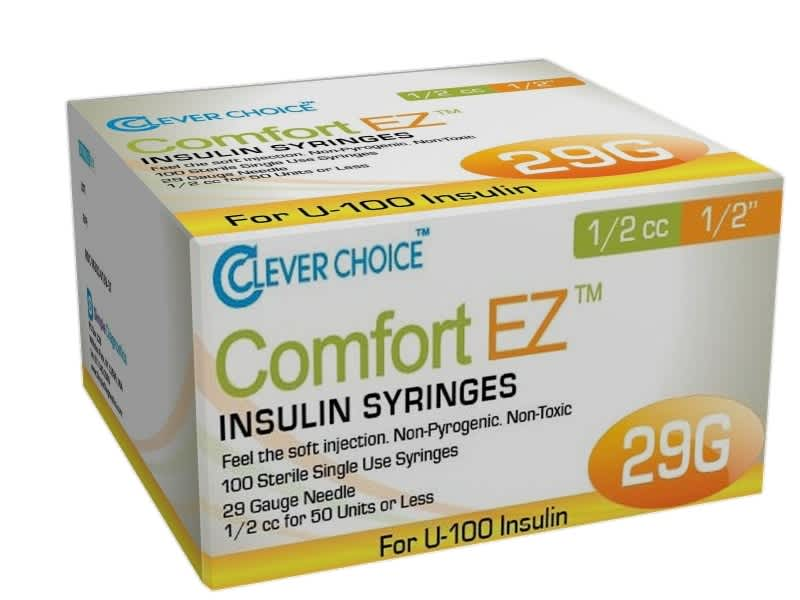 12mm Insulin Syringes - 29G .5cc