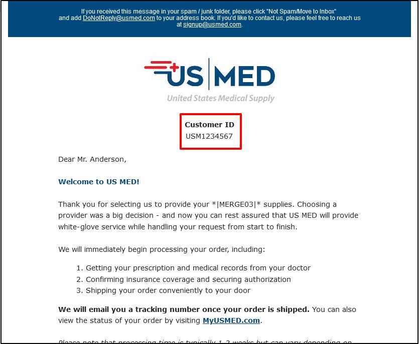 Welcome Email Screenshot 2