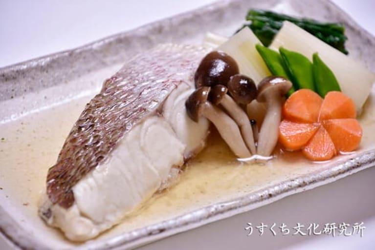 白身魚の煮つけの完成イメージ