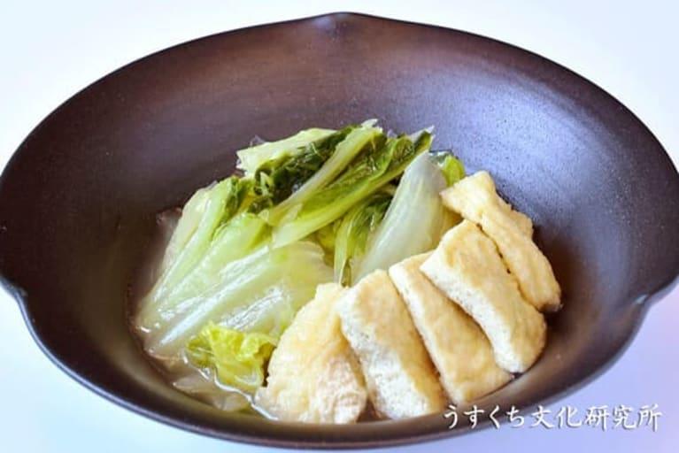 白菜とお揚げさんの炊いたんの完成イメージ