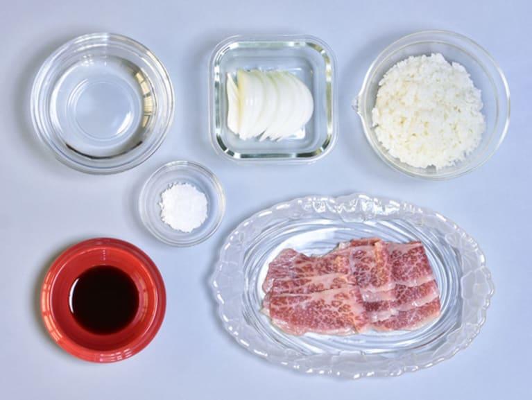 牛丼の完成イメージ