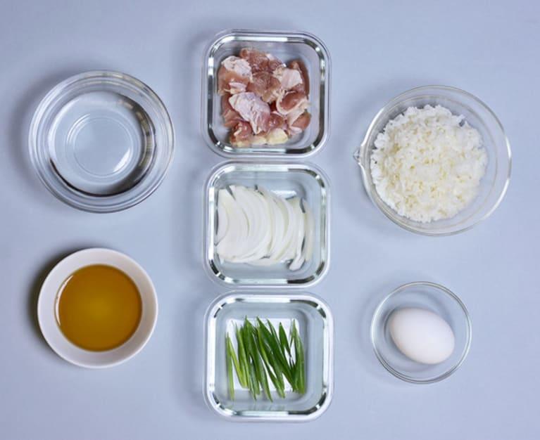 親子丼の完成イメージ