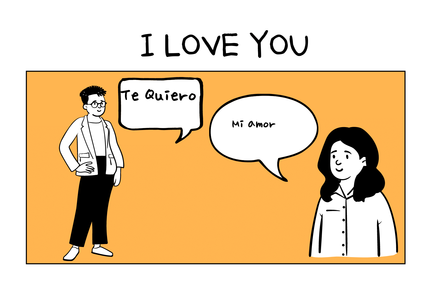 Infographics of Classic Ways of Saying I Love You