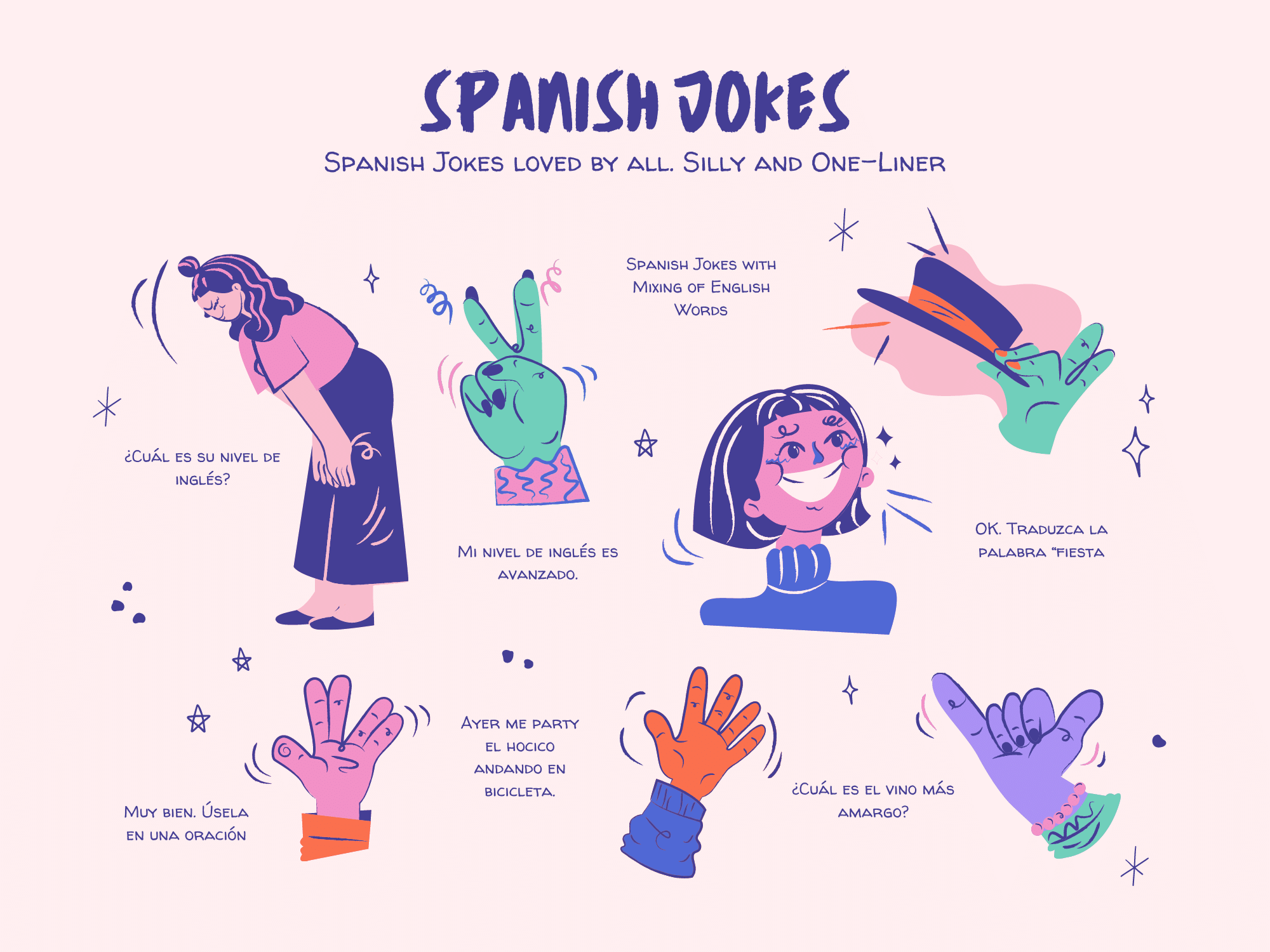 Infographics of 13 Spanish Jokes Loved By All