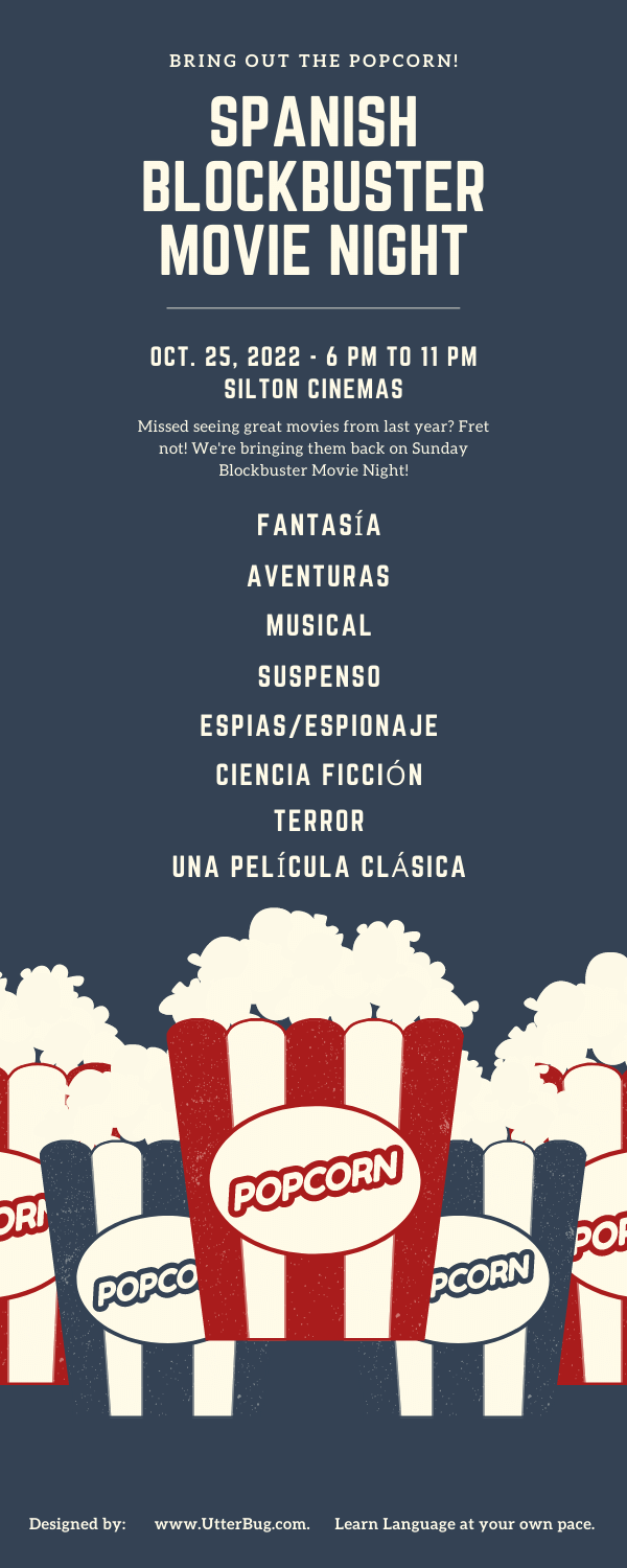 Infographics of Talk About Movies In Spanish