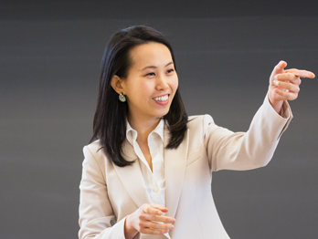 Eileen Chou in the classroom