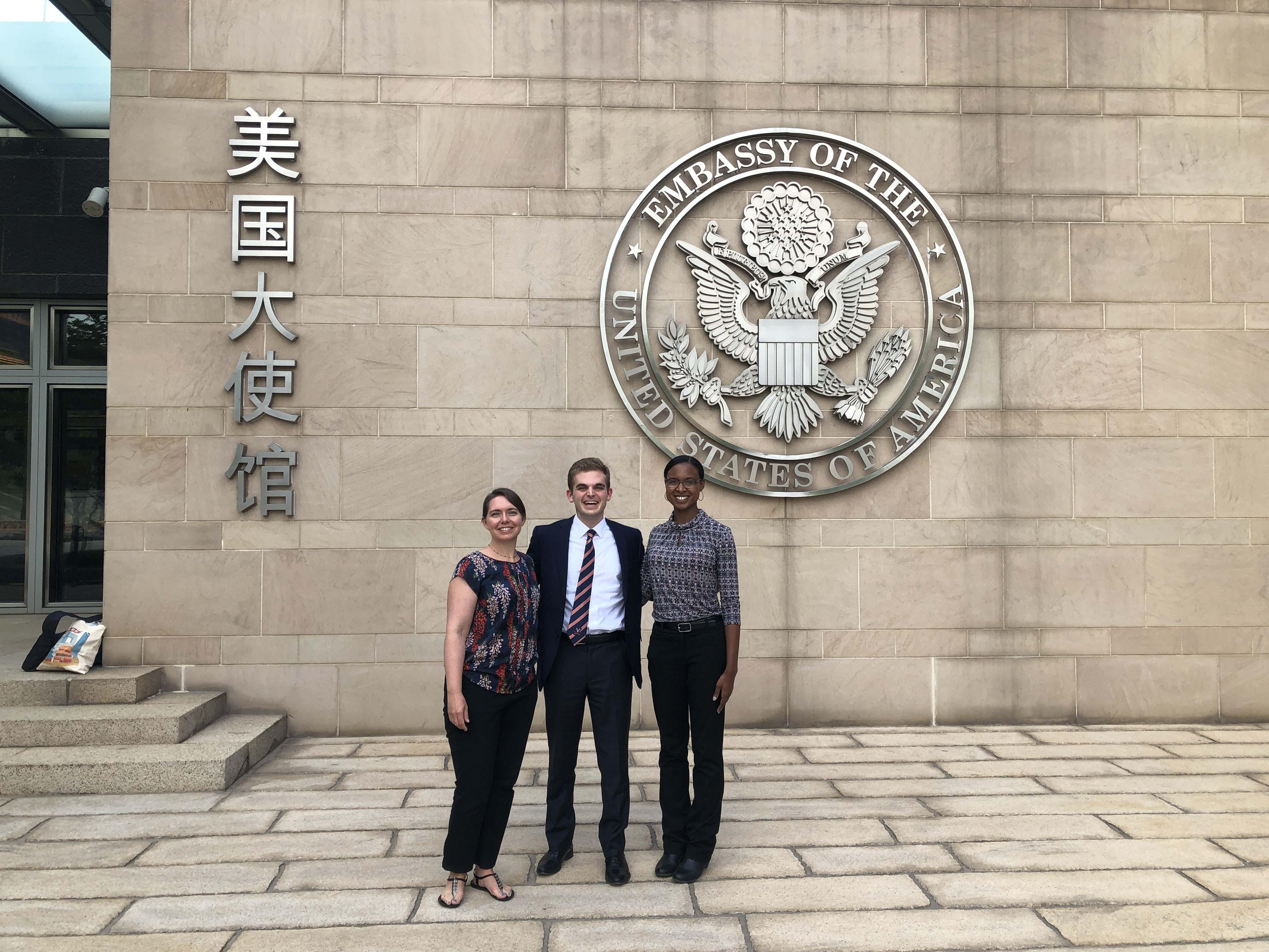 Batten student Zack Diamond in China