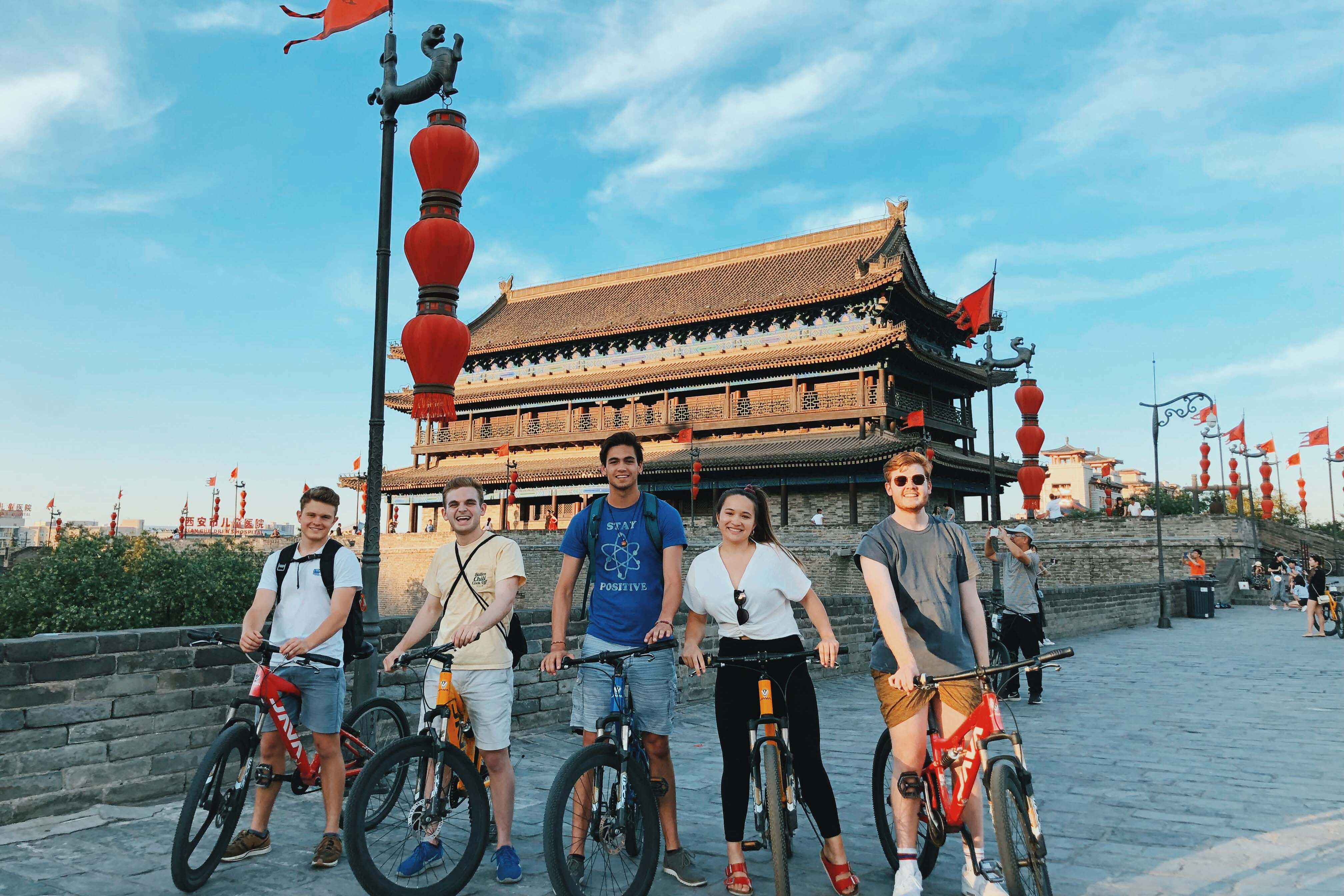 Batten student Zack Diamond in China