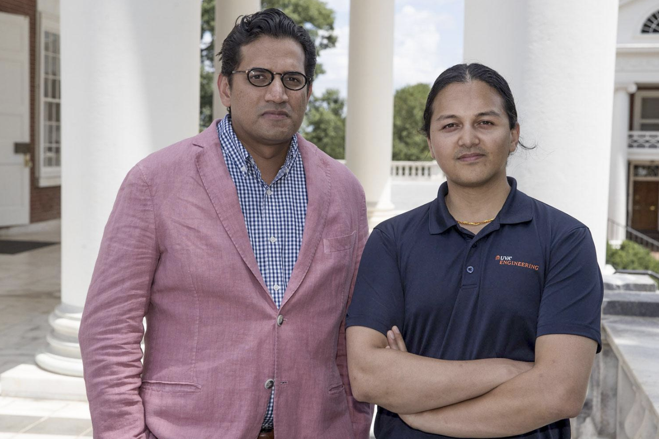 Batten Professor Bala Mulloth and UVA Engineering Professor Gaurav Giri