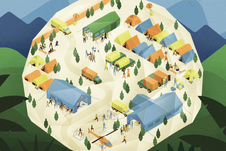 Humanitarian Crisis Illustration