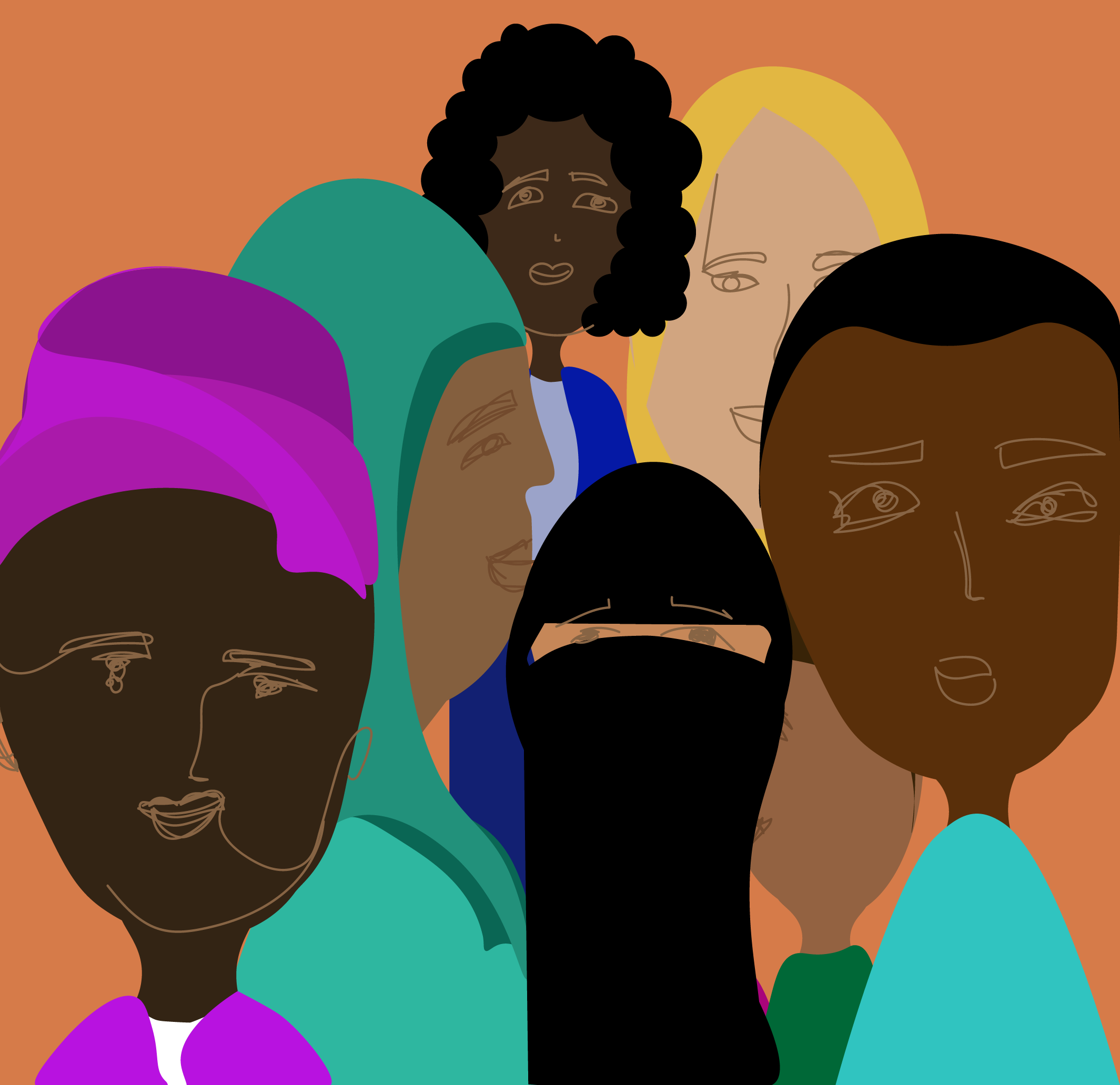 Batten Community people of all color illustration