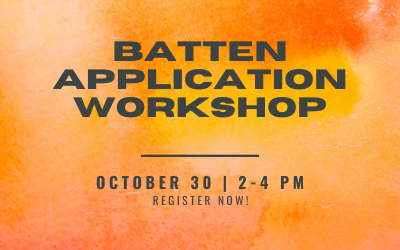 Logo for application workshop with date and time
