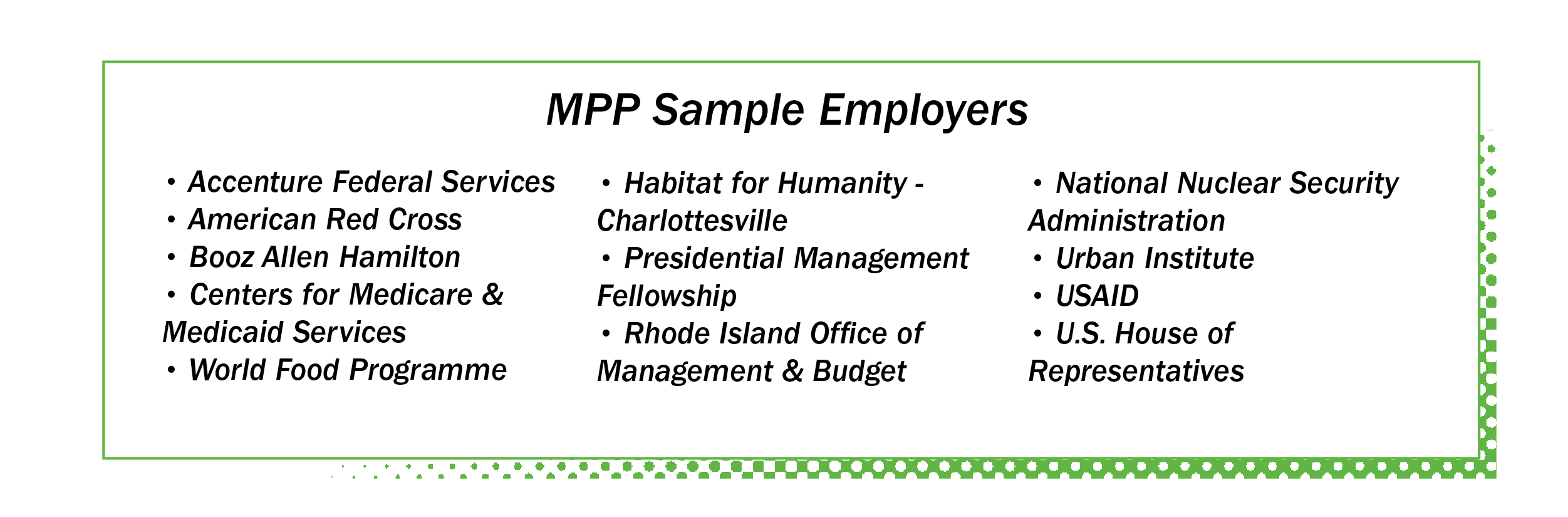 MPP Sample Employers