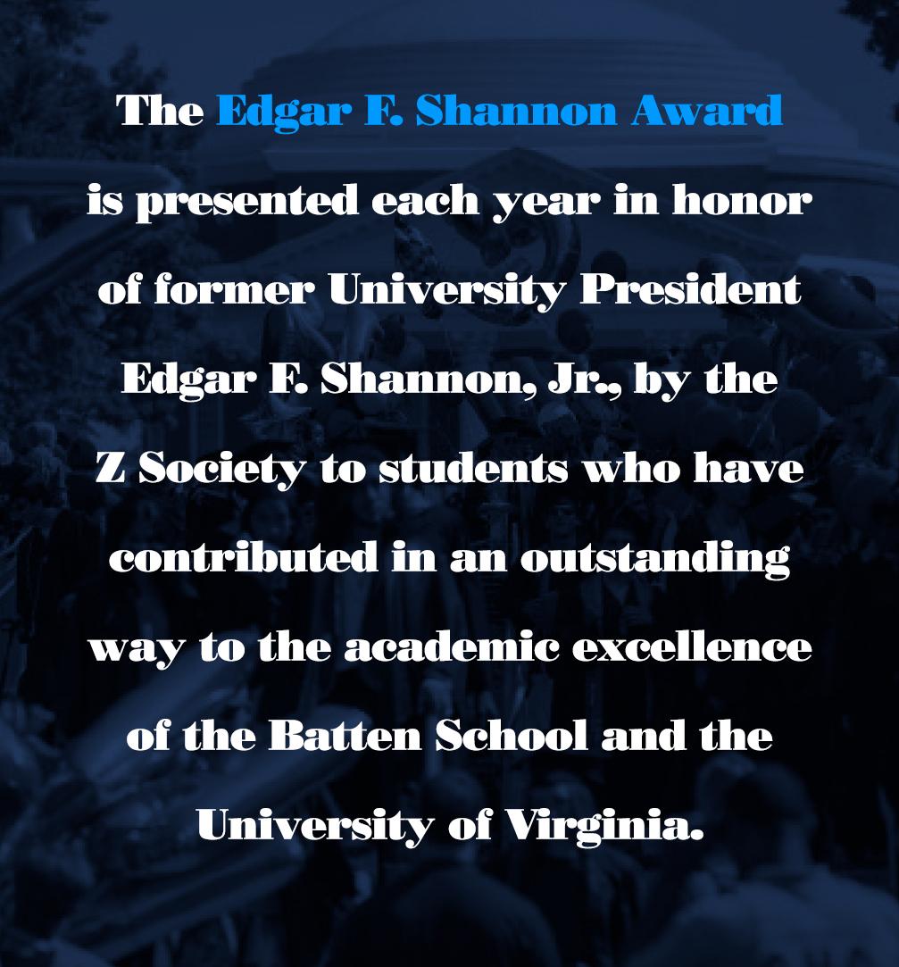 Edgar F. Shannon Award
