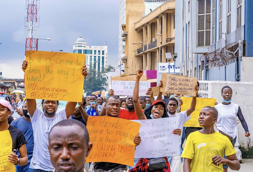 Nigeria's grassroots #EndSARS campaign
