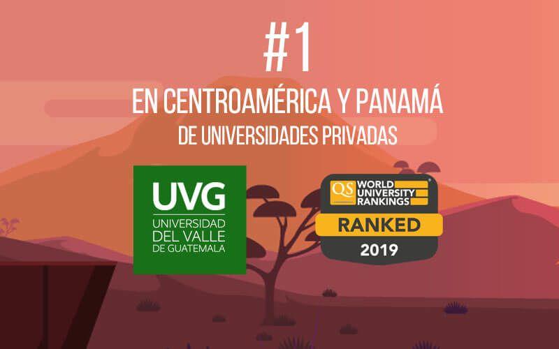 ¡Somos la Universidad privada #1 en Centroamérica!
