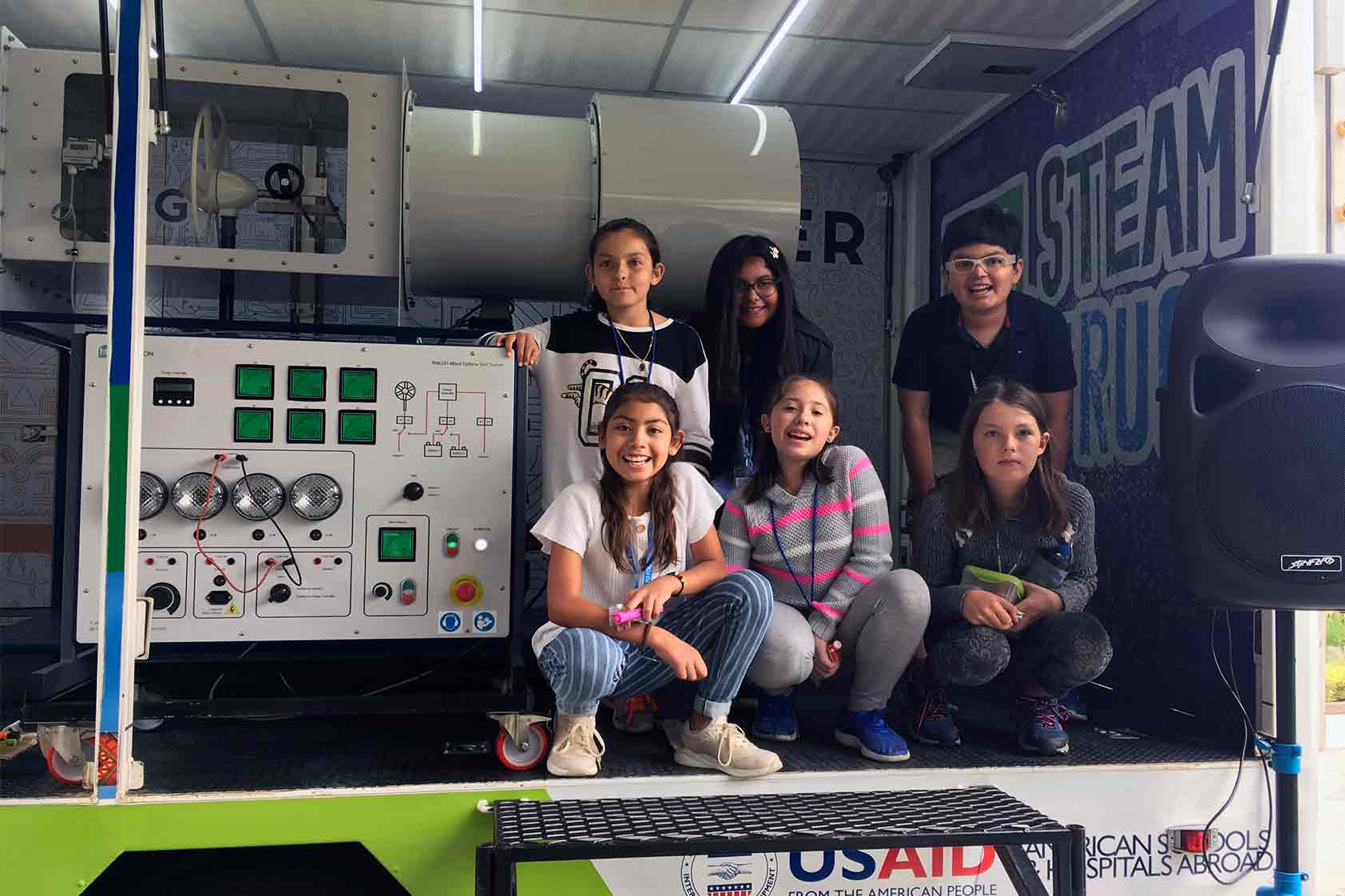 The STEAM truck visits USAID for an incredible family-event