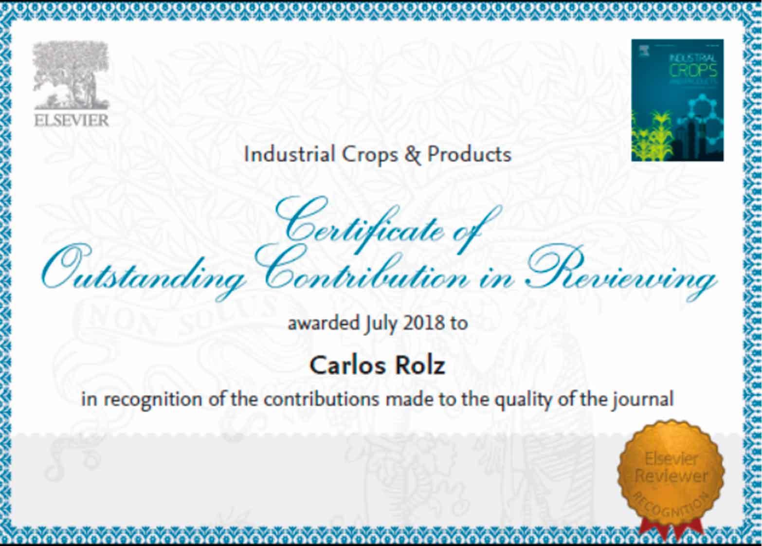 Carlos Rolz y su aporte en la revisión de revistas científicas internacionales