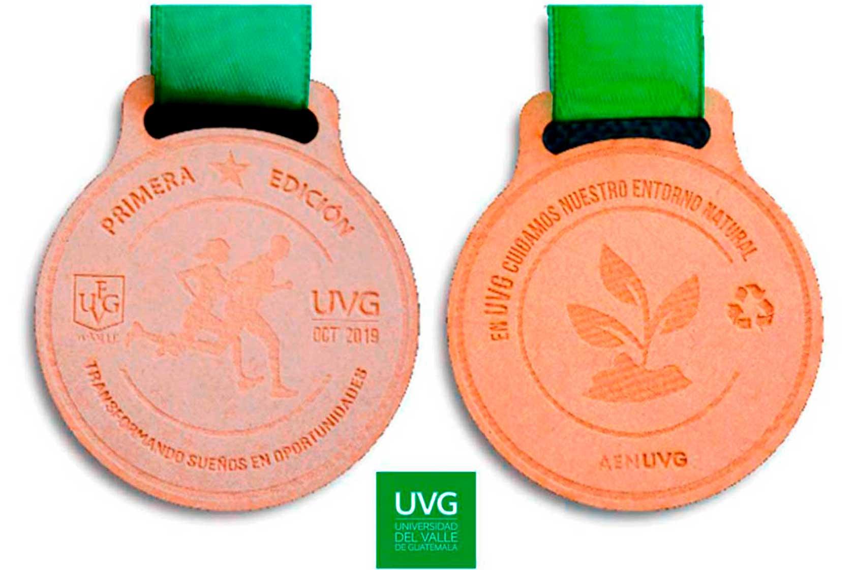 La historia detrás de las medallas de la primera Carrera UVG