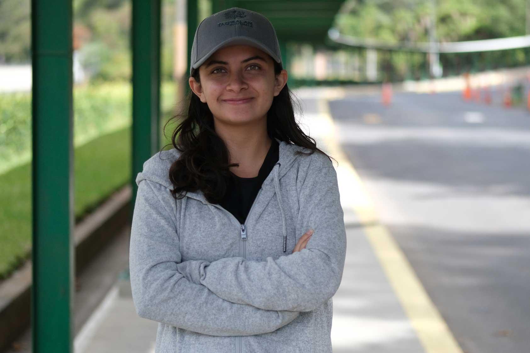 Enma Galindo, la joven del equipo Taq Balam que conduce el Huracán