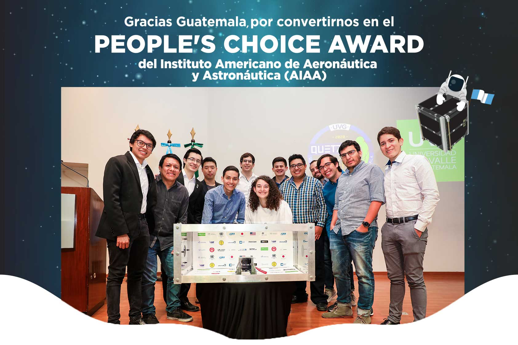 ¡Quetzal-1 recibe el People's Choice Award 2020 del AIAA!