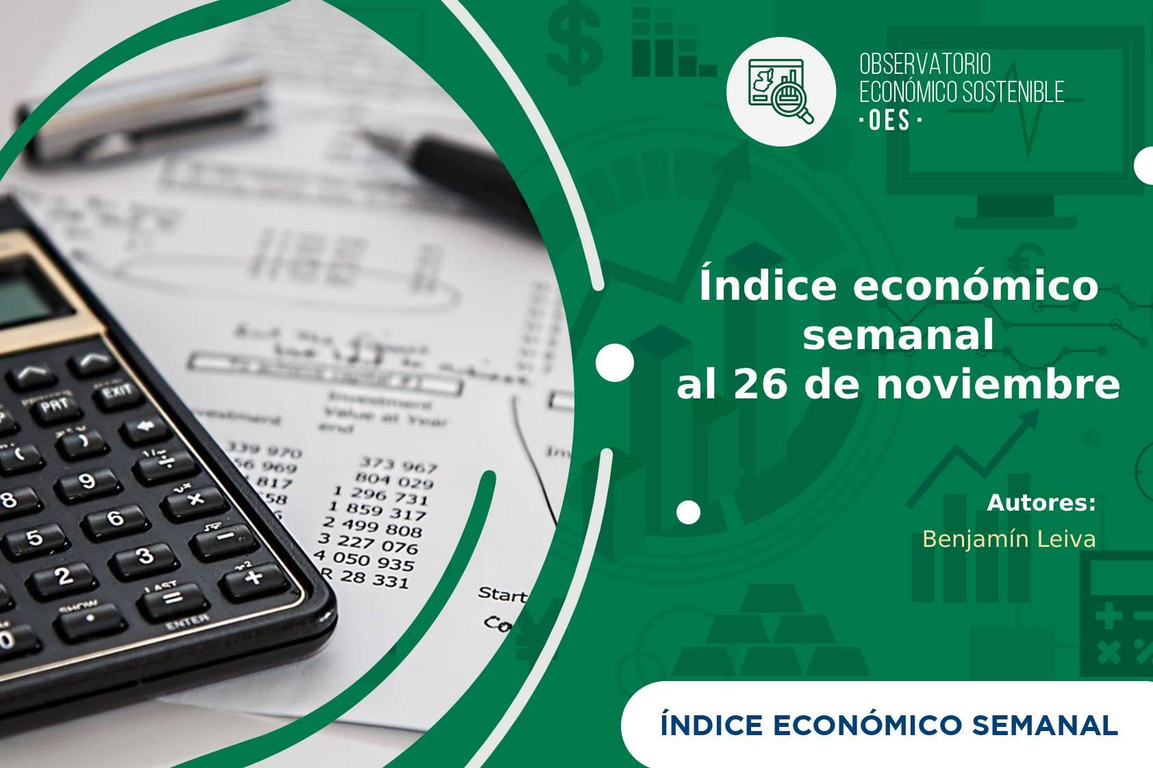 Caída del IES al 26 de noviembre por la baja de remesas, vuelos y el consumo de energía y combustible