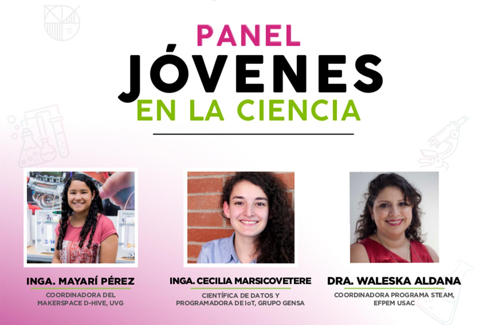 Anécdotas alentadoras y mucha inspiración vivimos en nuestro panel Jóvenes en la ciencia