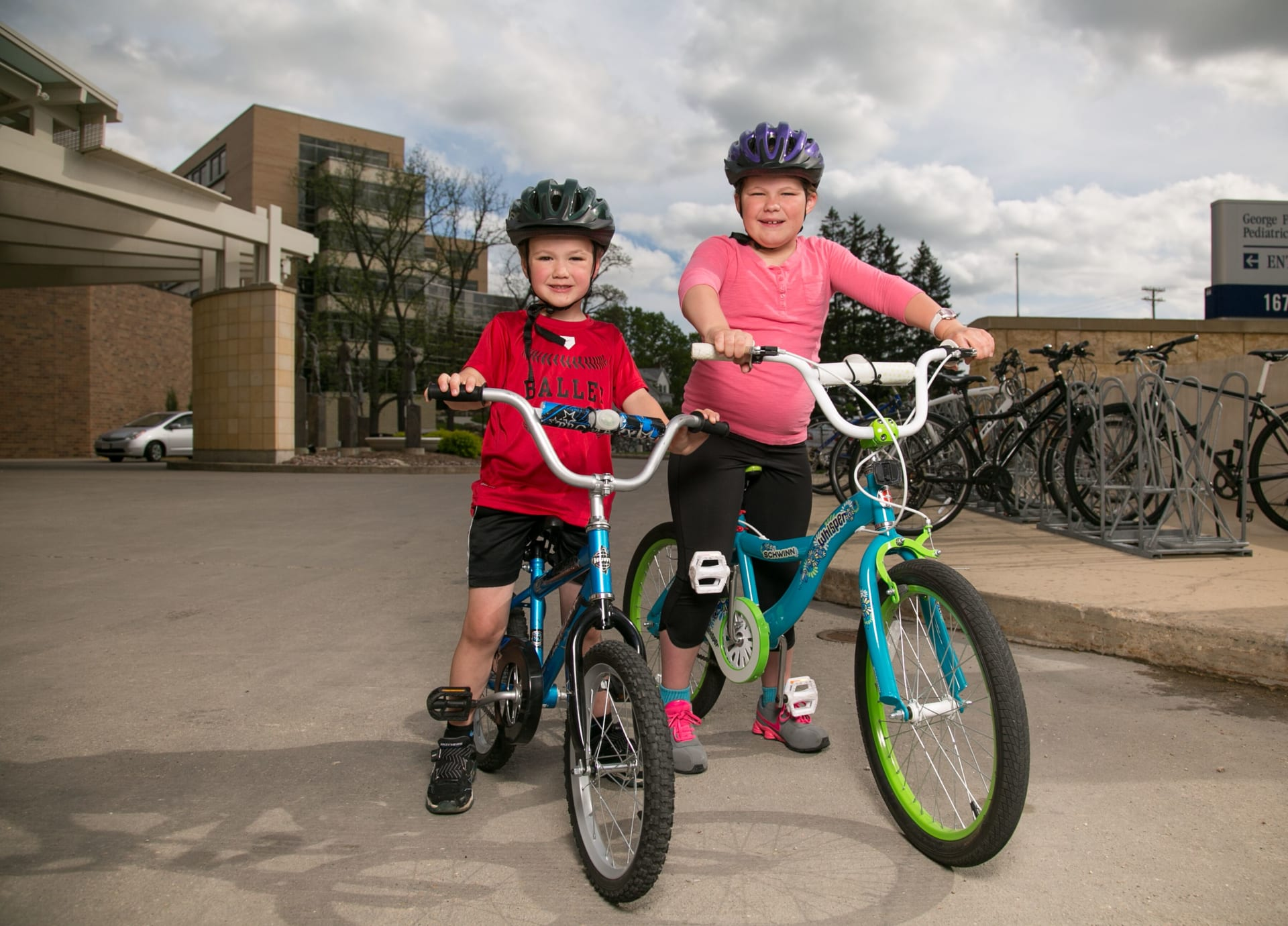 Image of Children biking