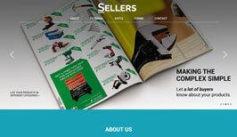 Разработка дизайн сайта и создание сайта для SELLERS Magazine