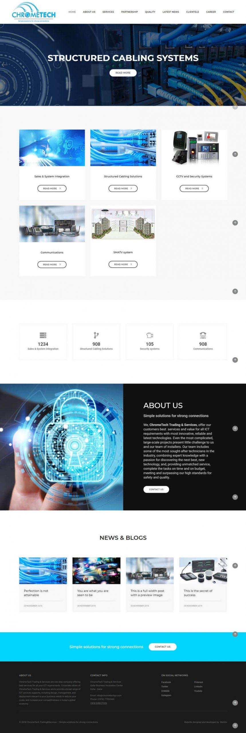 ChromeTech Trading&Services firmasi uchun sayt tayyorlandi: chrometechqa.com
