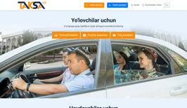 Создание сайта иразработка дизайн сайта в Ташкенте для Taksa.uz