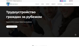 Создание сайта и разработка дизайн сайта в Ташкенте для ARM Inter Group uzmigration.uz