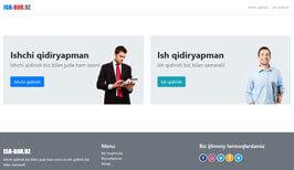 Разработка дизайн сайта и создание сайта в Ташкенте для Ish-bor.uz