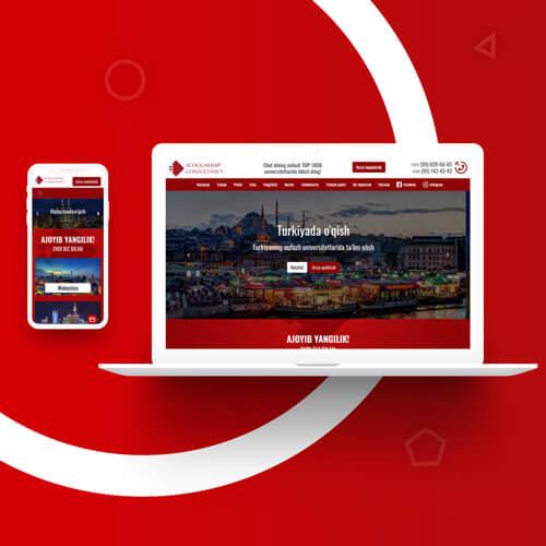 Создание сайта и редизайн сайта в Ташкенте для CSC.UZ