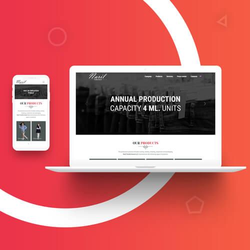 Разработка дизайн сайта и создание сайта в Ташкенте для naril.uz